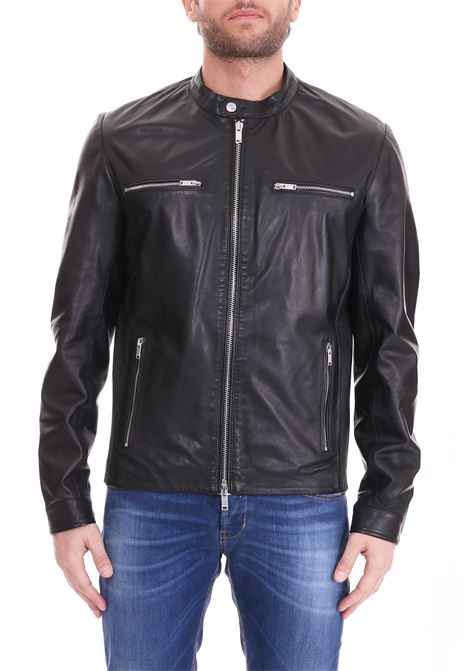 LEATHER BIKER DONDUP | Jackets | UJ572PL0213002DUS19999
