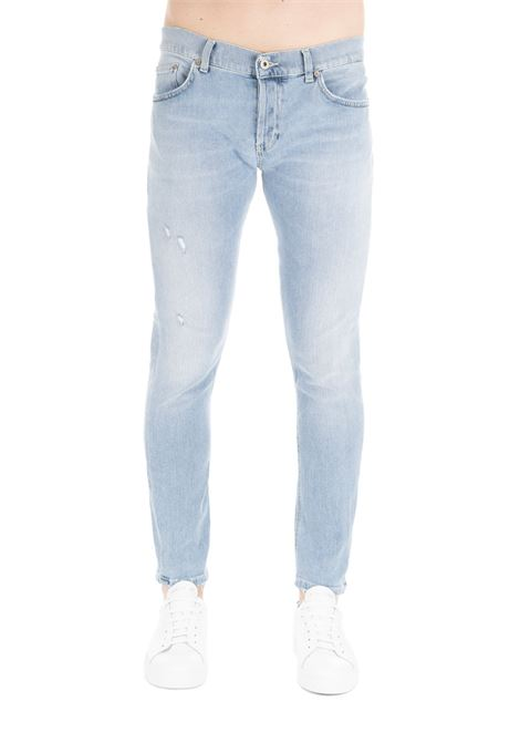 PANTALONE MIUS IN DENIM BLU CHIARO DONDUP | Jeans | UP168DS0229U38DUS19800