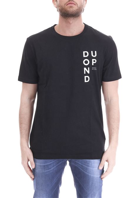 BLACK T-SHIRT LETTERING DONDUP | T-shirt | US198JF0234UV62DUS19999