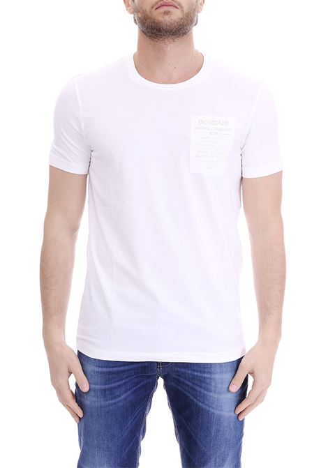 WHITE  T-SHIRT VINYL PATCH DONDUP | T-shirt | US221JS01258Q98DUS19000