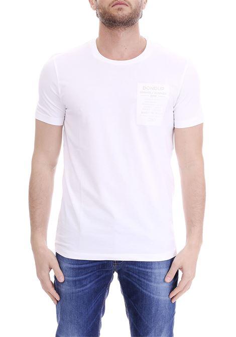 T-SHIRT BIANCA PATCH VINILE DONDUP | T-shirt | US221JS01258Q98DUS19000
