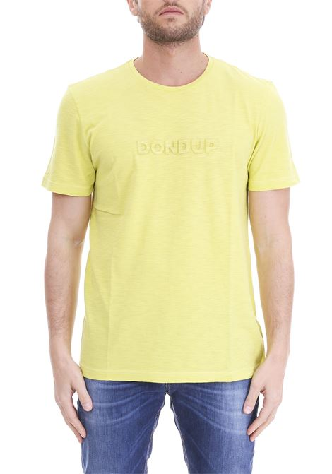 GREEN T-SHIRT RELIEF LOGO DONDUP | T-shirt | US286JF0236U23DUS19419