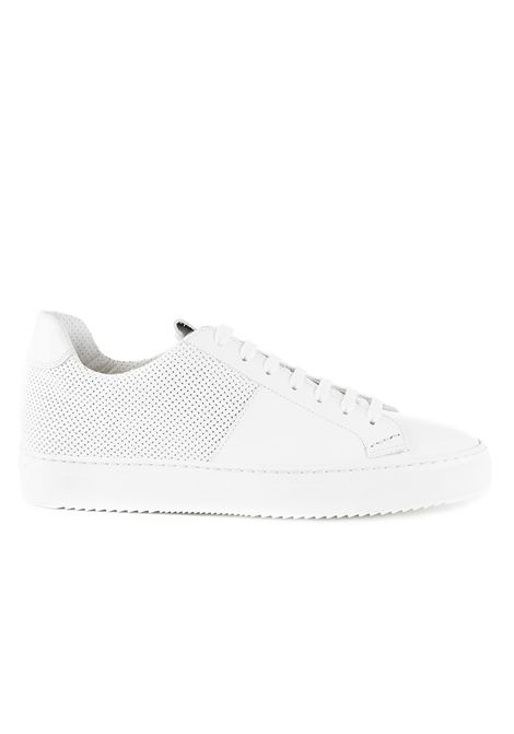 WHITE SNEAKER WITH WOVEN LEATHER PANELS DUCA DI WELLS | Sneakers | NU2448ERICUF043IW00BIANCO