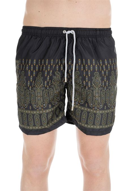 BLACK SWIM SHORTS WITH CASHMERE PATTERN F**k | Swimsuits | FK19-0064FANTASIA NERO