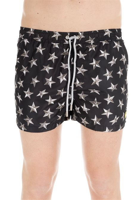BLACK SWIM SHORTS WITH STARS PATTERN F**k | Swimsuits | FK19-0076FANTASIA NERO