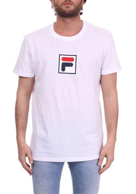 T-SHIRT BIANCA IN COTONE CON LOGO FRONTALE FILA | T-shirt | 682099BIANCO