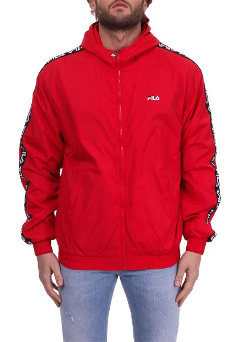 TACEY TAPE WIND JACKET - RED FILA | Jackets | 682359ROSSO