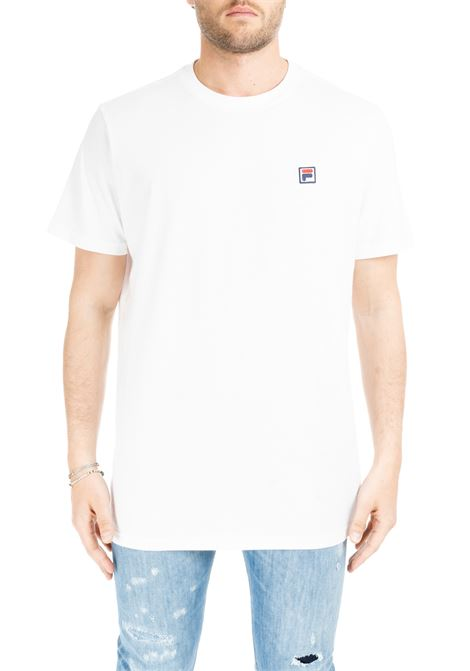 WHITE T-SHIRT WITH MINI PATCH LOGO FILA | T-shirt | 682393M67