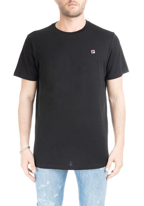 BLACK T-SHIRT WITH MINI PATCH LOGO FILA | T-shirt | 682393NERO