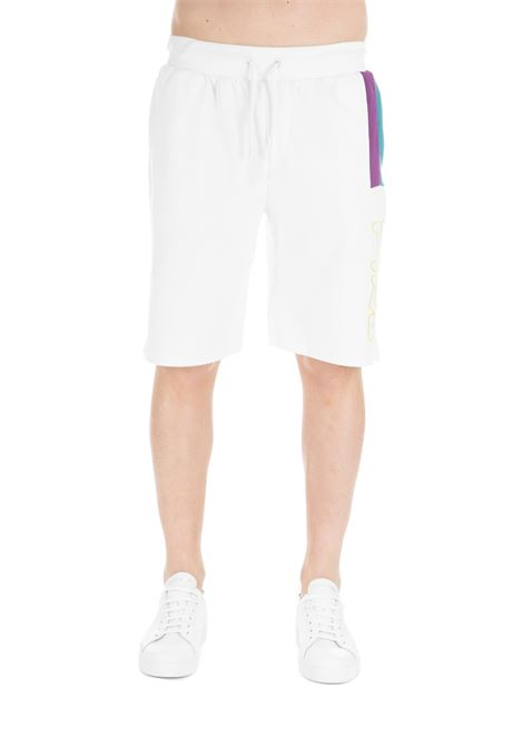 WHITE AJAY LAIDED ON STRIPES SHORTS FILA | Shorts | 684473001