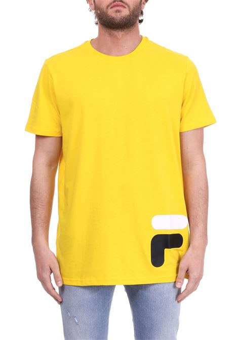 YELLOW COTTON T-SHIRT LOGO IN THE BOTTOM FILA | T-shirt | 684489GIALLO