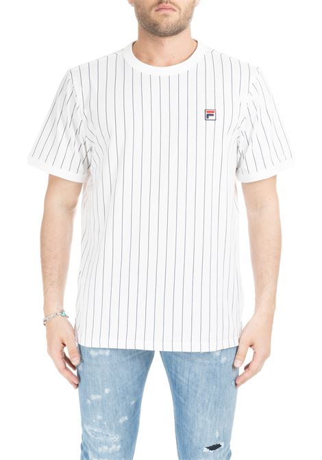 WHITE GUILO STRIPE T-SHIRT FILA | T-shirt | 684500001