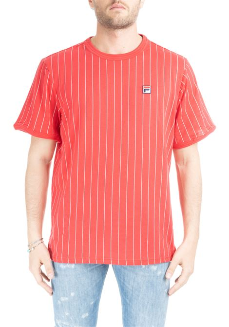 RED GUILO STRIPE T-SHIRT FILA | T-shirt | 684500G70