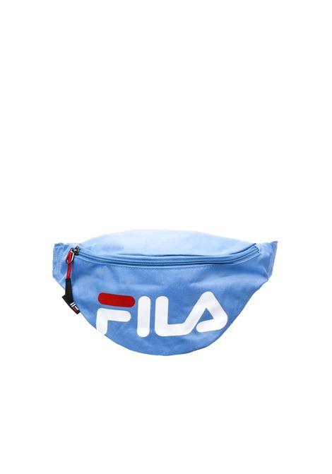 BLUE WAIST BAG PRINTED LOGO FILA | Belt Bags | 685003AZZURRO