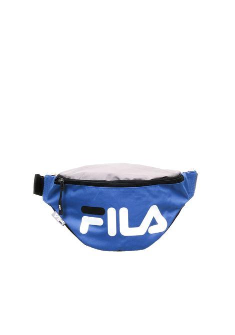 BLUE WAIST BAG PRINTED LOGO FILA | Belt Bags | 685003COBALTO