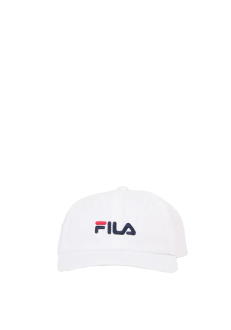WHITE HAT WITH FRONT LOGO EMBROIDERY FILA | Hats | 685034BIANCO