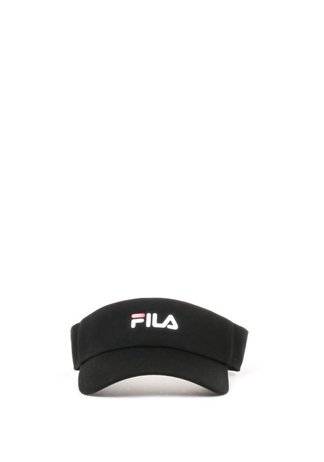 BLACK VISOR WITH LOGO PRINT FILA | Hats | 686027NERO