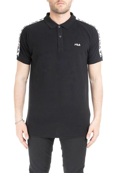 BLACK TIBOR POLO WITH LOGO BAND FILA | Polo Shirts | 687022002