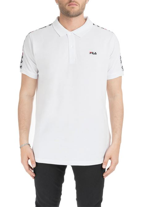 WHITE TIBOR POLO WITH LOGO BAND FILA | Polo Shirts | 687022M67