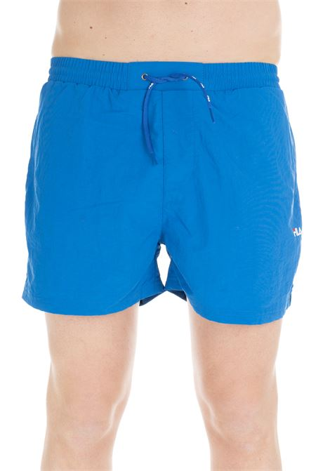 BLUE OWEN MID-LENGHT SWIM SHORTS FILA | Swimsuits | 687121L51