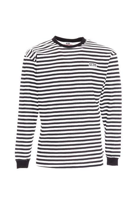 STRIPED COTTON T-SHIRT GCDS | T-shirt | CC94M020090MULTICOLOR