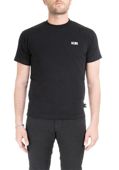 BLACK T-SHIRT WITH GCDS MINI LOGO GCDS | T-shirt | CC94U02001002