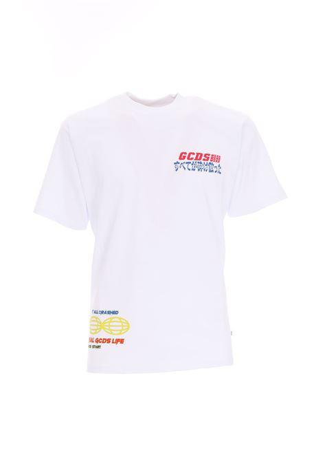 PRINTED T-SHIRT GCDS | T-shirt | SS19M020055BIANCO
