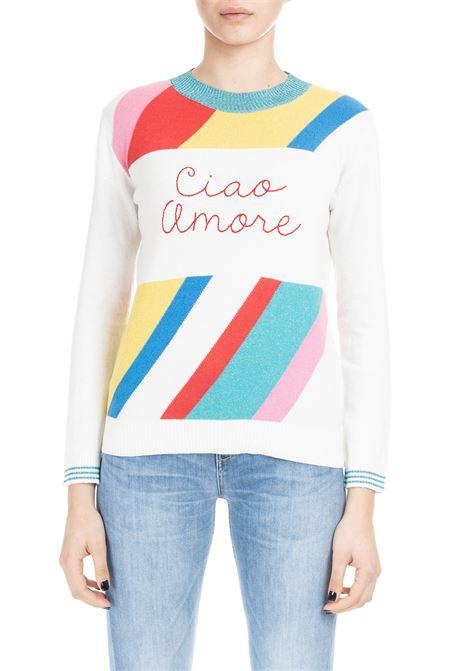 WHITE CIAO AMORE SWEATER GIADA BENINCASA | Sweaters | P9603KC2