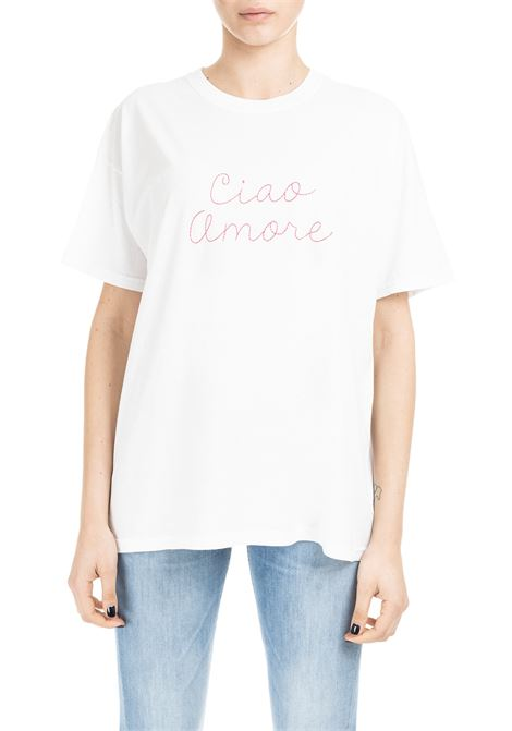 CIAO AMORE T-SHIRT - RED FRONT EMBROIDERY  GIADA BENINCASA | T-shirt | P9901T04