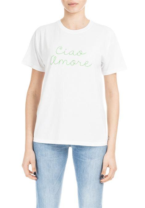 T-SHIRT CIAO AMORE - RICAMO VERDE FRONTALE GIADA BENINCASA   T-shirt   P9901T15