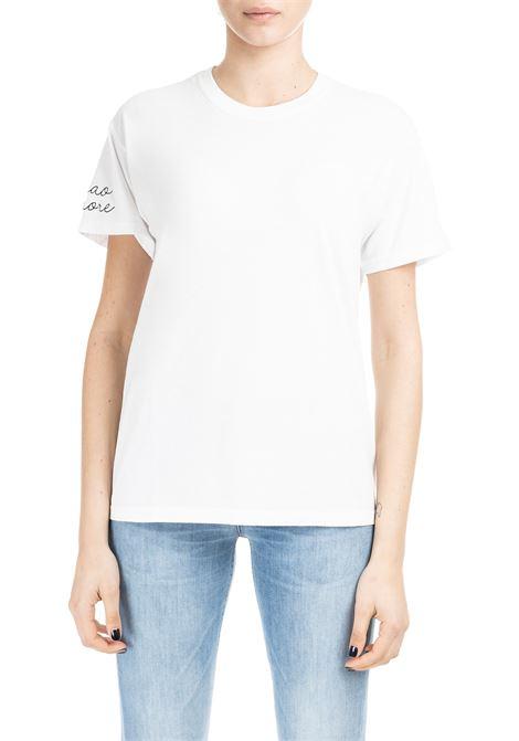 CIAO AMORE T-SHIRT - BLACK SLEEVE EMBROIDERY GIADA BENINCASA | T-shirt | P9902T02
