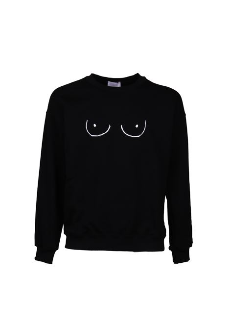 COTTON SWEATSHIRT GLIMMED | Sweatshirts | CCW190100501NERO