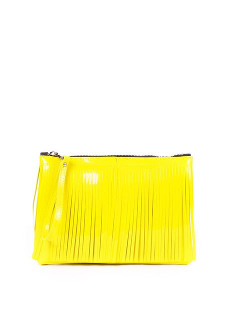 CLUTCH NUMBER MEDIA WITH FRINGES YELLOW GUM | Clutches | BC4012/19PEGLOSSYGIALLO