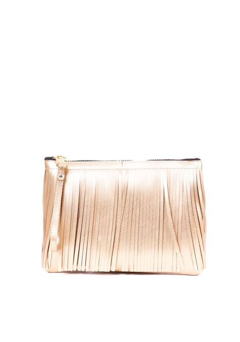CLUTCH NUMBER MEDIA WITH FRINGES GOLD GUM | Bags | BC4012/19PEGUMFRLMGOLD