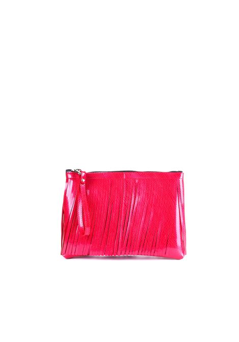 CLUTCH NUMBER MEDIA WITH FRINGES RED GUM | Bags | BC4012/19PEGUMFRLMROSSO