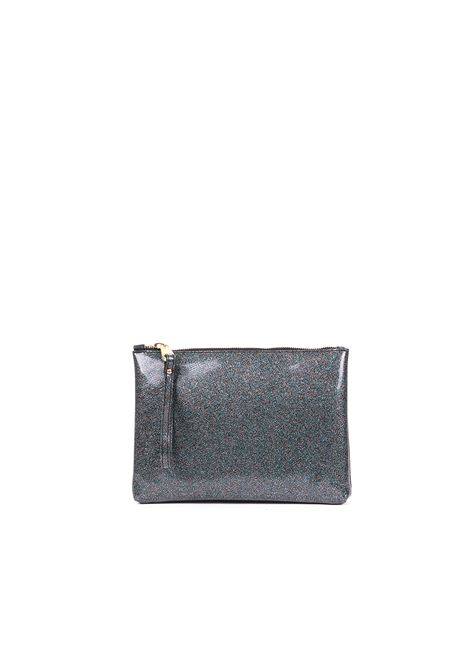 CLUTCH IN VINYL GLITTERBERG MULTICOLOR GUM | Clutches | BC4052/19PEGLITTERBERGMULTICOLOR