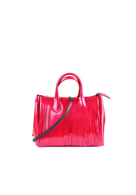 PVC BAG WITH FRINGES GUM | Bag | BS3700T/19PEGUMFRROSSO