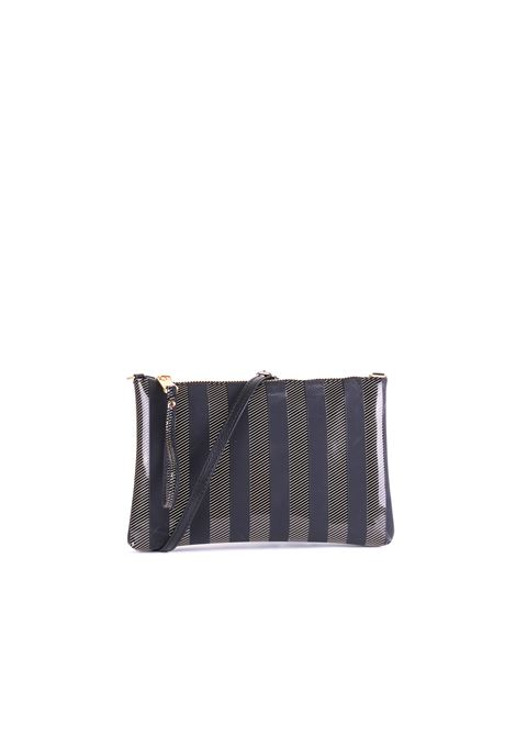 MEDIUM CLUTCH NUMBERS STRIPE BLACK GUM | Clutches | BS4057/19PESOFTSTRIPBLACK