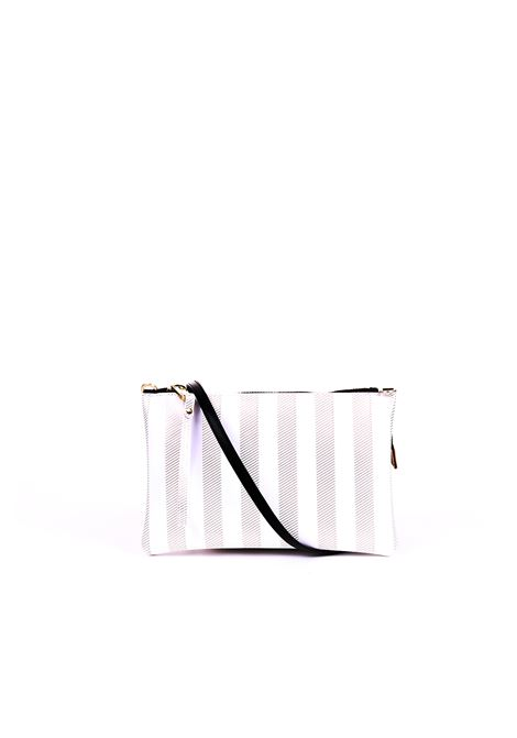 MEDIUM CLUTCH NUMBERS STRIPE WHITE GUM | Clutches | BS4057/19PESOFTSTRIPGOLD