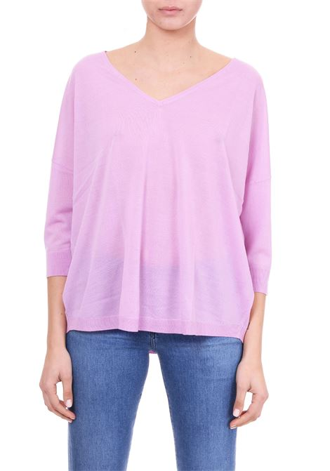 LILAC SWEATER WITH RIBBED EDGES HEMISPHERE | Sweaters | HES91914601-174174