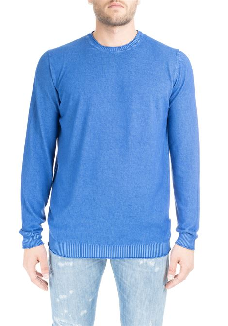 COBALT SWEATER WITH CONSUMED PROFILES KANGRA | Sweaters | 700001161