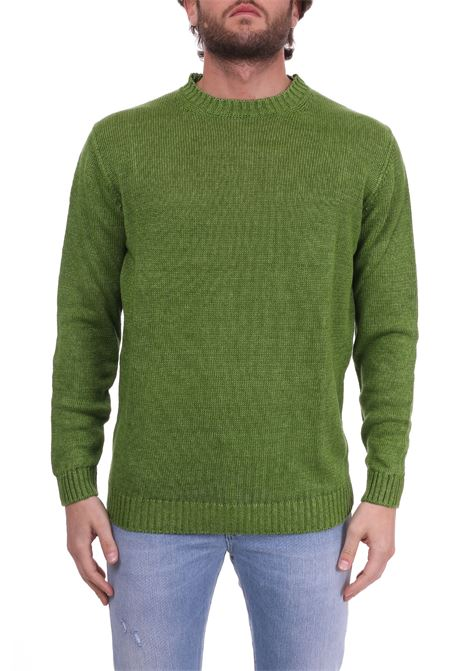 LINEN GREEN SWEATER KANGRA | Sweaters | 72000137