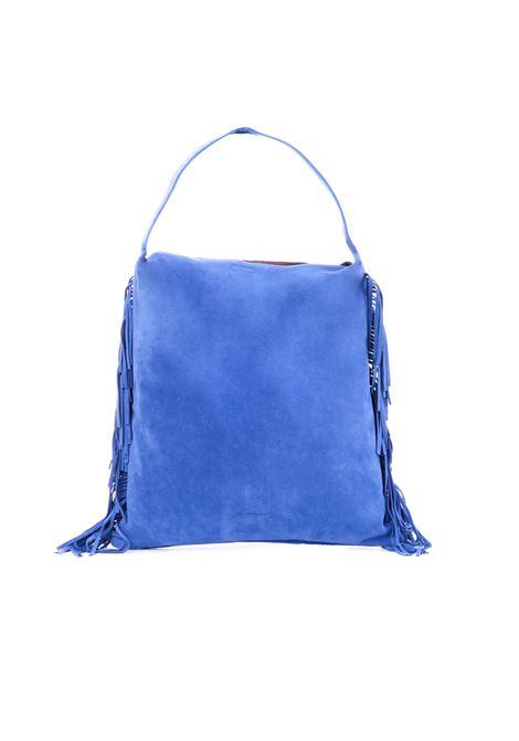 BLUE SUEDE BAG WITH FRINGE L'AUTRE-CHOSE | Bags | LBJ01204007727092COBALTO