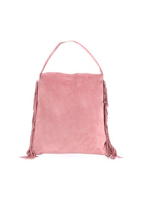 PINK SUEDE BAG WITH FRINGE L'AUTRE-CHOSE | Bag | LBJ01204007728033ROSA