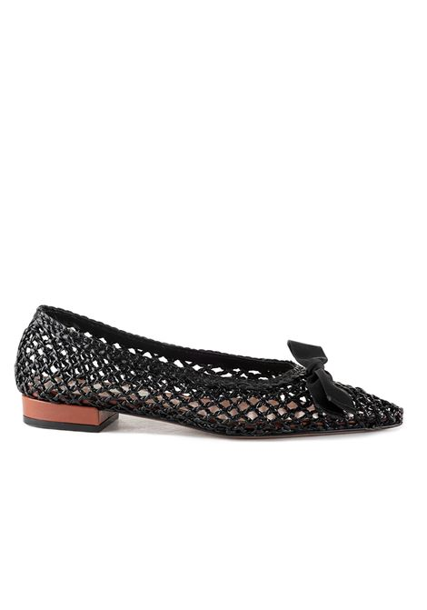 BLACK FLAT IN PERFORATED LEATHER L'AUTRE-CHOSE | Ballerinas | LDJ03920CP2767E945NERO