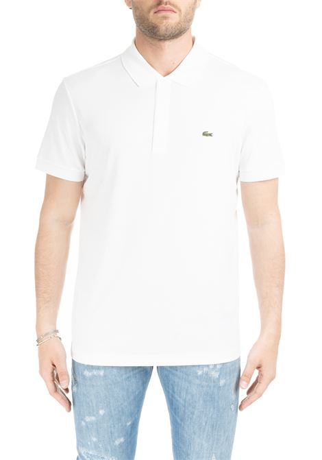 WHITE CLASSIC POLO IN PIQUE' OF COTTON Lacoste | Polo Shirts | DH2050001