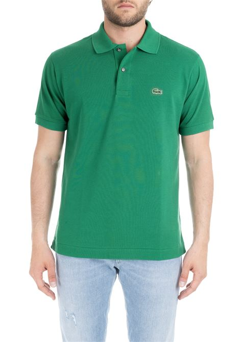 GREEN CLASSIC POLO IN PIQUE' OF COTTON Lacoste | Polo Shirts | L1212APF