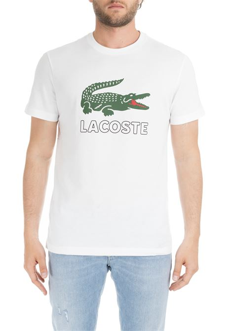 COTTON BLUE T-SHIRT WITH LOGO PRINT Lacoste |  | TH6386001