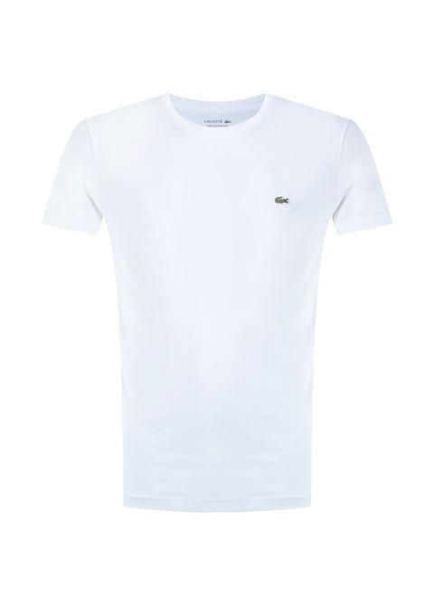 T-SHIRT BIANCA IN COTONE PIMA ULTRA LEGGERO Lacoste | T-shirt | TH6709001