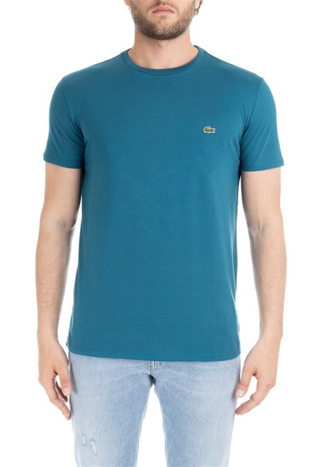 ULTRA LIGHTWEIGHT PIMA COTTON GREEN OIL T-SHIRT Lacoste | T-shirt | TH6709AE8